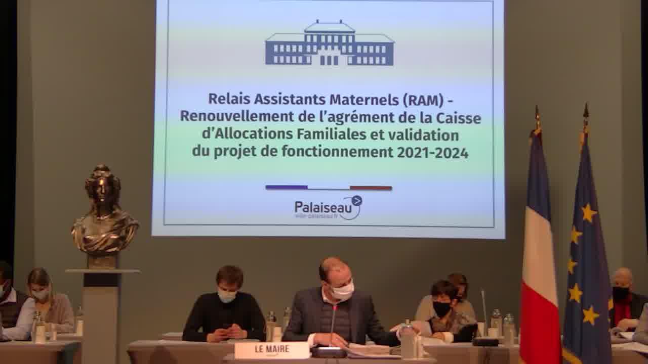 Relais Assistants Maternels (RAM) - Renouvellement de l'agrément de la Caisse d'Allocation Familiales et validation du projet de fonctionnement 2021-2024