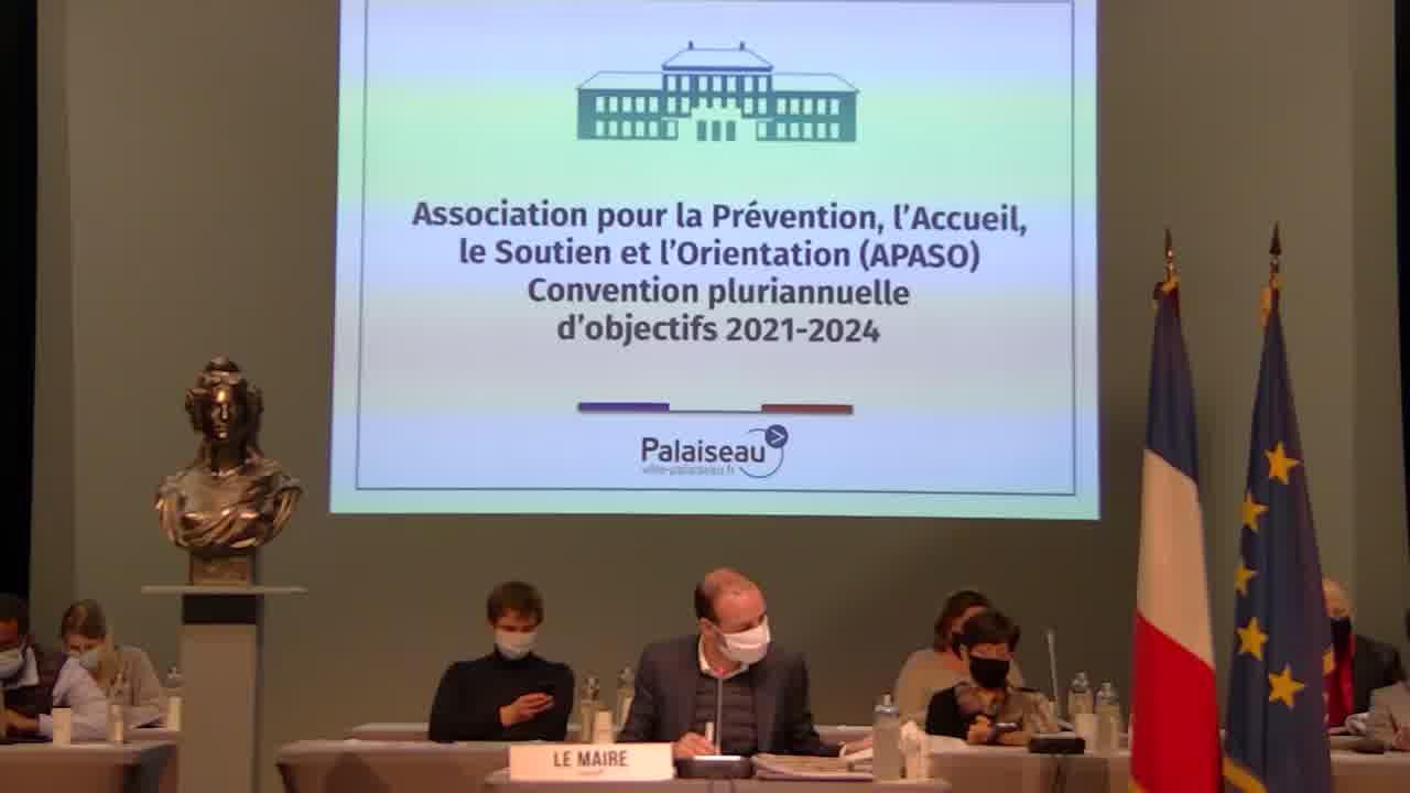 Association pour la Prévention, l'Accueil, le Soutien et l'Orientation (APASO)-Convention pluriannuelle d'objectifs 2021-2024