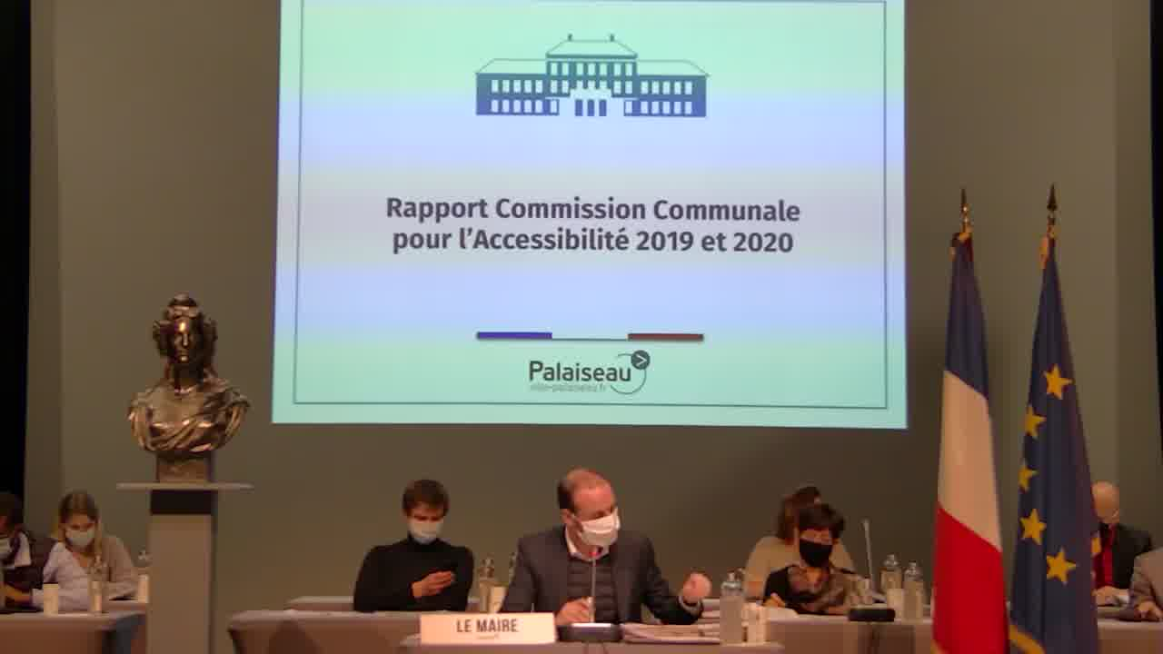 Rapport Commission Communale pour l'Accessibilité 2019 et 2020