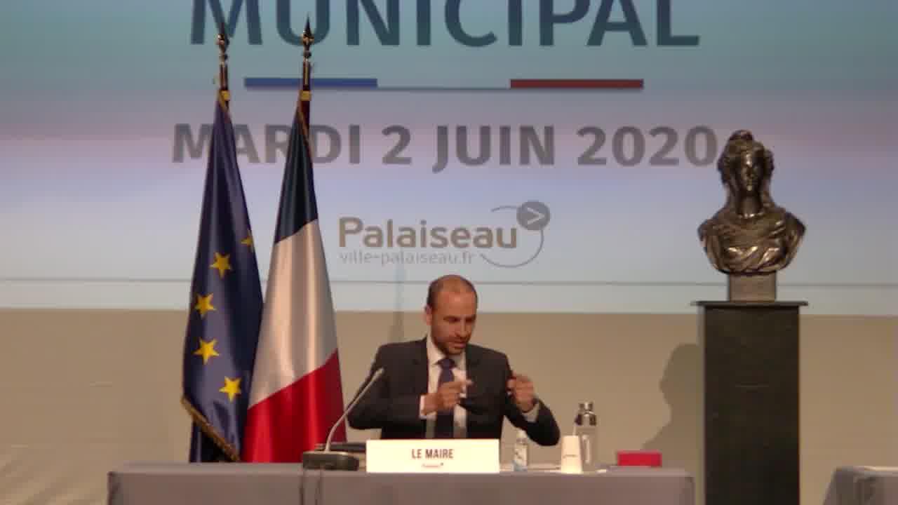 Mairie de Palaiseau - Conseil Municipal du 2 juin 2020