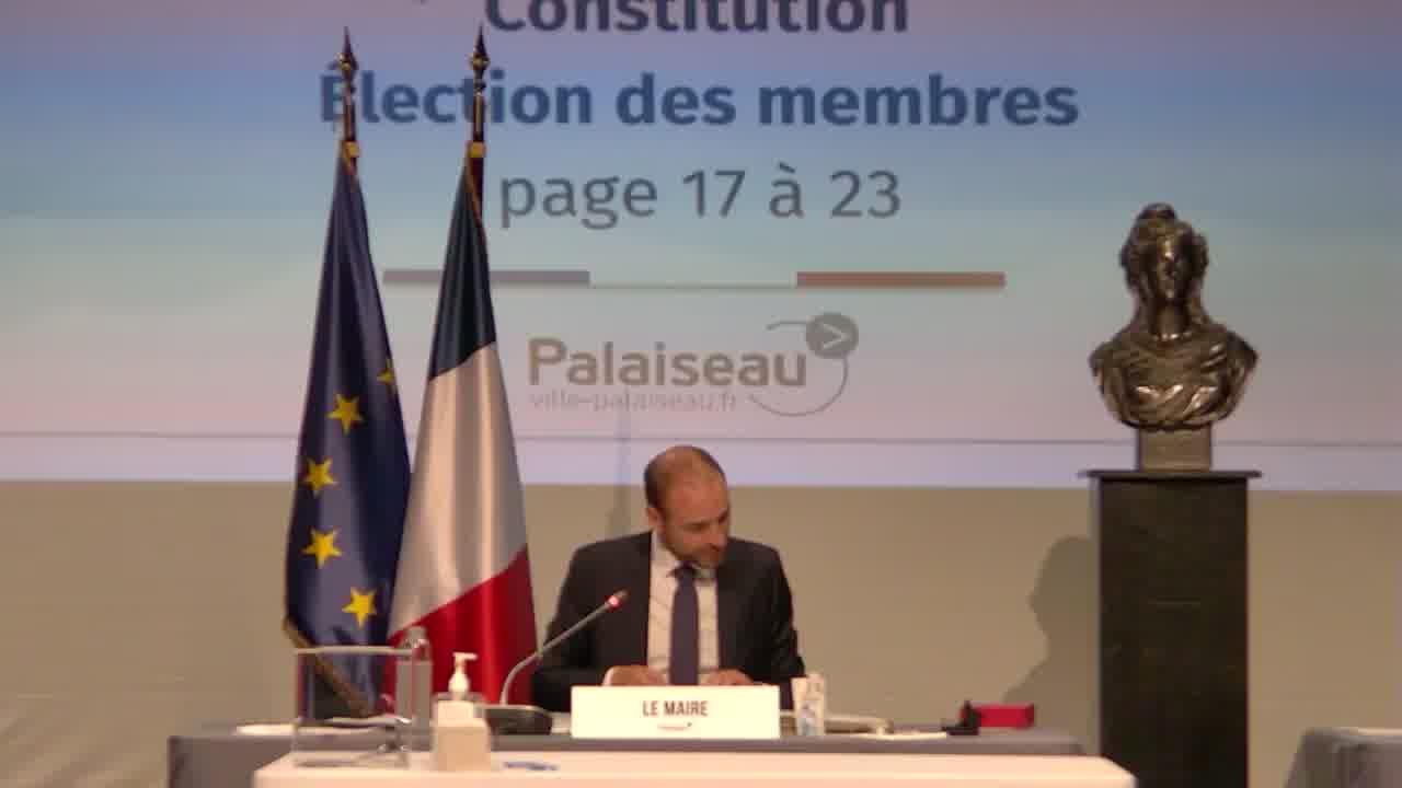 Contrats de la commande publique - Commission de délégation de service public (CDSP) – Constitution – Election des membres