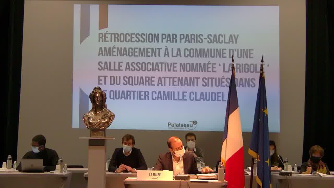 Délibération retirée : Refus de la Ville - Transfert de la compétence PLU à la Communauté Paris-Saclay