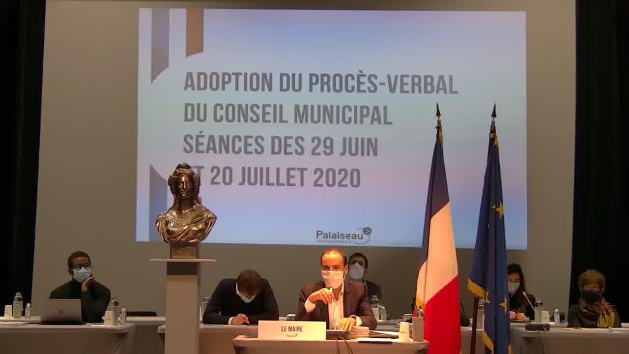 Adoption du procès-verbal du Conseil municipal - Séances des 29 juin et 20 juillet 2020 (suite)