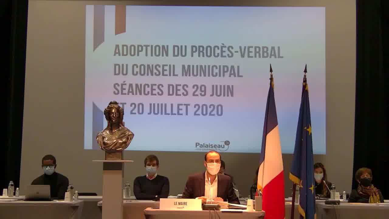 Adoption du procès-verbal du Conseil municipal - Séances des 29 juin et 20 juillet 2020 (votes)