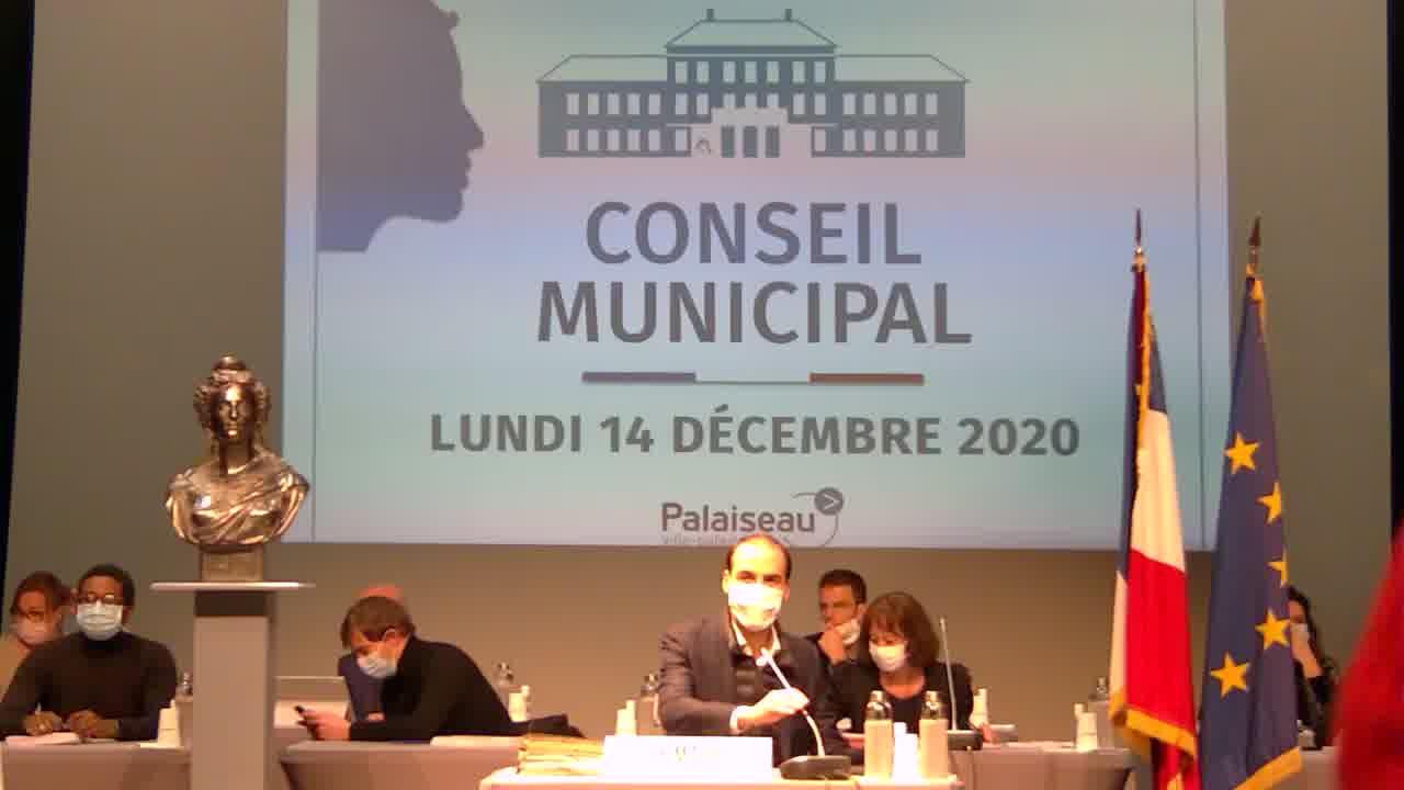 Mairie de Palaiseau - Conseil Municipal du 14 décembre 2020