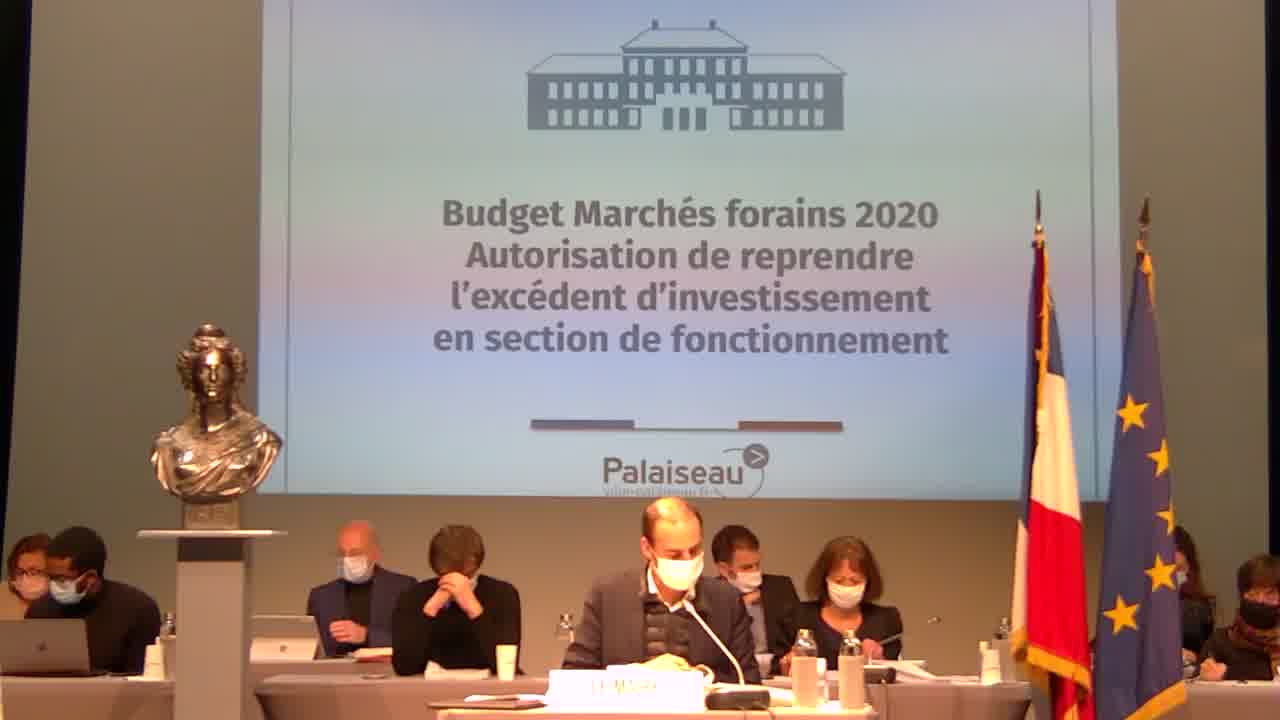 Budget Marchés forains 2020 - Décision modificative N°1