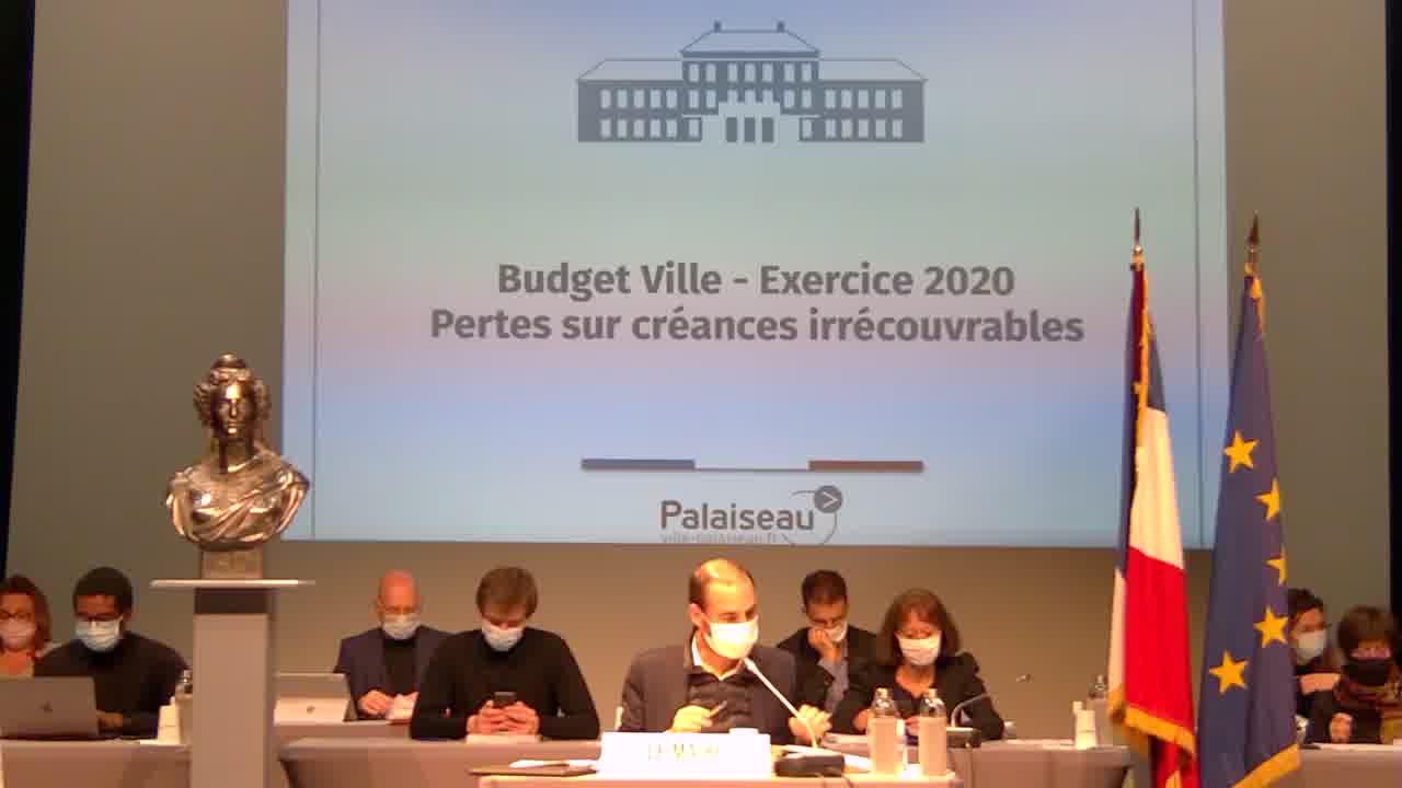 Budget Ville - Autorisation de dépenser en investissement avant le vote du budget 2021